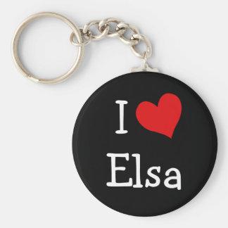 I Love Elsa Keychains