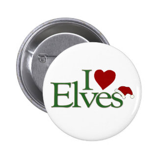 I Love Elves Pinback Button