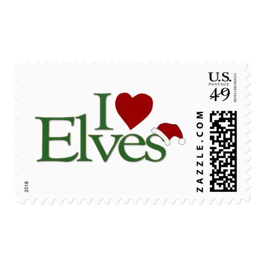 I Love Elves Postage