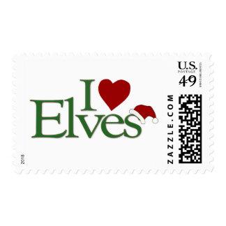 I Love Elves Postage Stamp