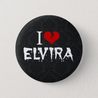 I Love Elvira Broken Heart Button