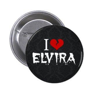 I Love Elvira Broken Heart Round Button