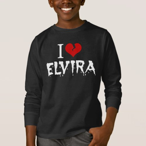 I Love Elvira Broken Heart Long Sleeve T-Shirt