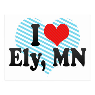 I Love Ely, MN Postcard