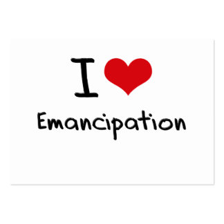 I love Emancipation Large Business Cards (Pack Of 100)