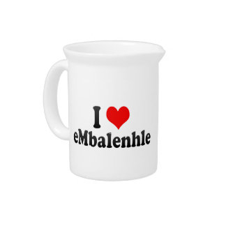 I Love eMbalenhle, South Africa Drink Pitcher