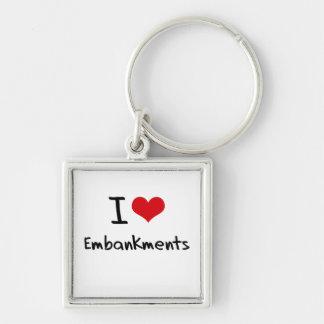 I love Embankments Keychain