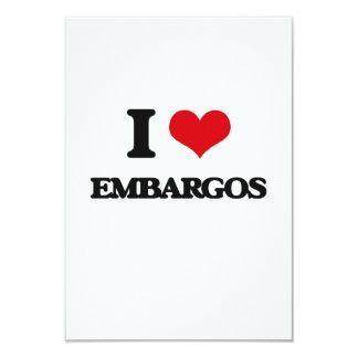 I love EMBARGOS 3.5x5 Paper Invitation Card