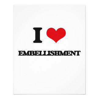 "I love EMBELLISHMENT 4.5"" X 5.6"" Flyer"