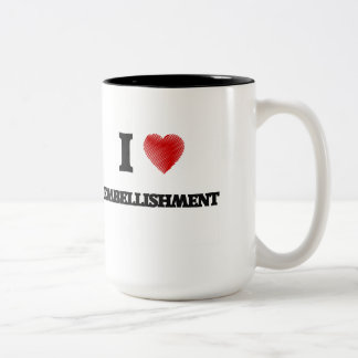 I love EMBELLISHMENT Two-Tone Coffee Mug