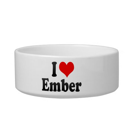 I love Ember Cat Water Bowls