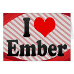 I love Ember Stationery Note Card