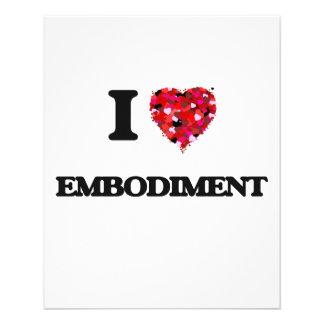 """I love EMBODIMENT 4.5"""" X 5.6"""" Flyer"""