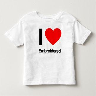 i love embroidered tee shirts