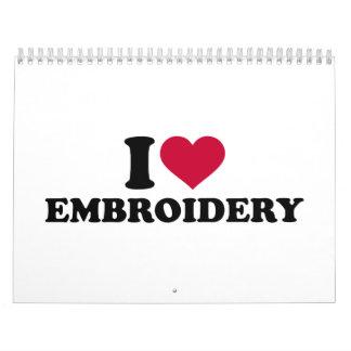 I love Embroidery Calendar