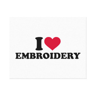 I love Embroidery Canvas Print