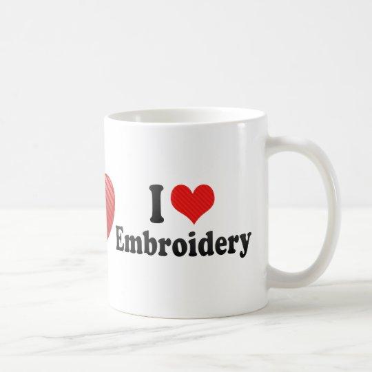 I Love Embroidery Coffee Mug