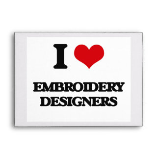 I love Embroidery Designers Envelope