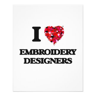 """I love Embroidery Designers 4.5"""" X 5.6"""" Flyer"""