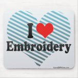 I Love Embroidery Mouse Pads