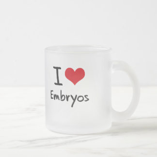 I love Embryos Frosted Glass Coffee Mug
