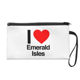 i love emerals isles wristlets