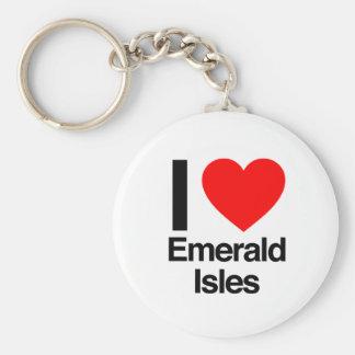 i love emerals isles key chains