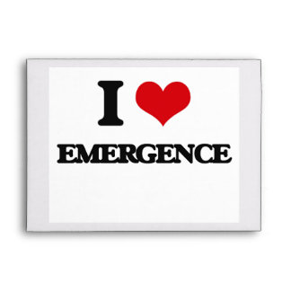 I love EMERGENCE Envelopes
