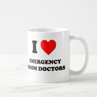 I Love Emergency Room Doctors Classic White Coffee Mug