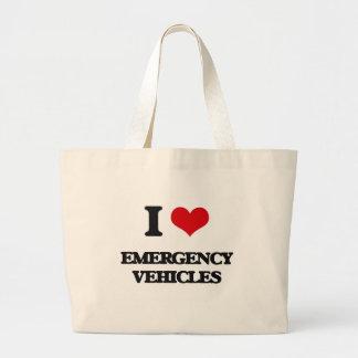 I love EMERGENCY VEHICLES Jumbo Tote Bag