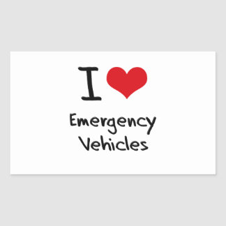 I love Emergency Vehicles Rectangular Sticker