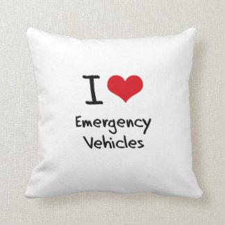 I love Emergency Vehicles Throw Pillows