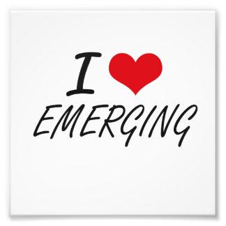 I love EMERGING Photo Print