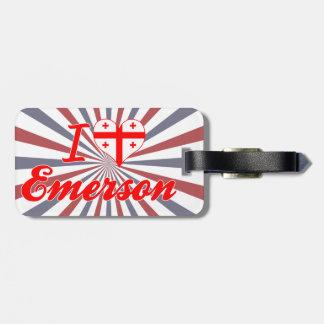 I Love Emerson Georgia Tags For Bags