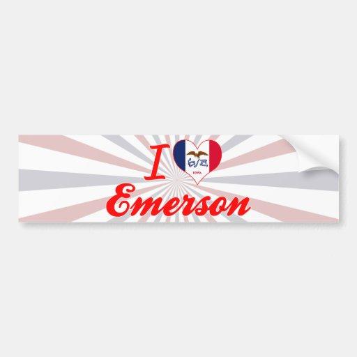 I Love Emerson, Iowa Bumper Sticker