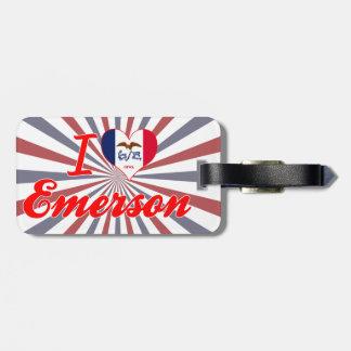 I Love Emerson Iowa Tag For Luggage