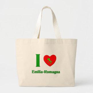 I Love Emilia-Romagna Italy Large Tote Bag
