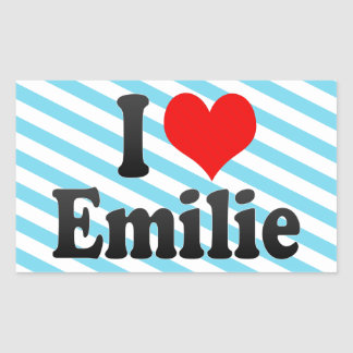 I love Emilie Stickers