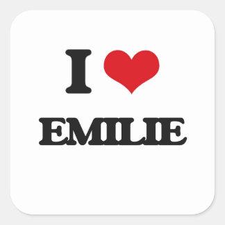 I Love Emilie Square Sticker
