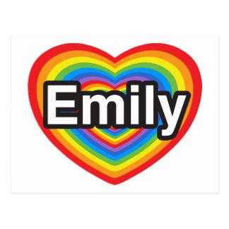 I love Emily. I love you Emily. Heart Postcard