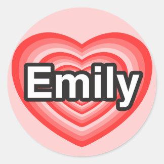 I love Emily. I love you Emily. Heart Sticker