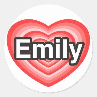 I love Emily. I love you Emily. Heart Stickers