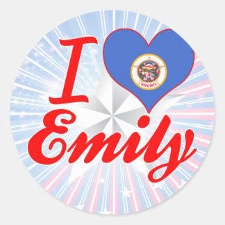 I Love Emily, Minnesota Round Stickers