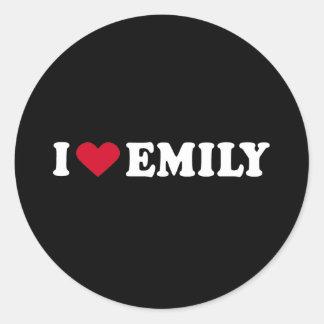 I LOVE EMILY ROUND STICKERS