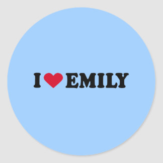 I LOVE EMILY ROUND STICKER