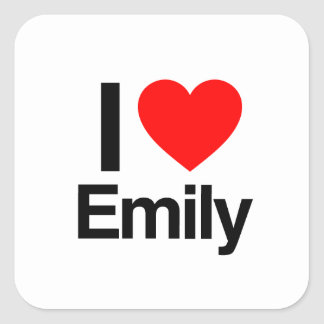 i love emily square sticker