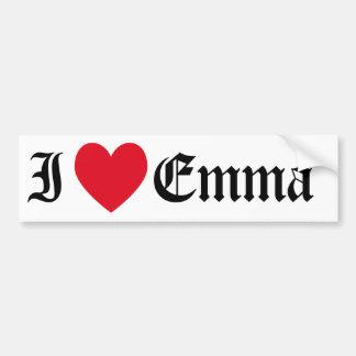 I Love Emma Bumper Sticker Car Bumper Sticker