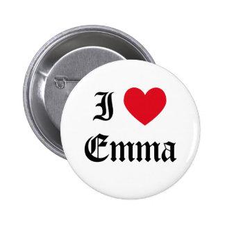 I Love Emma Button