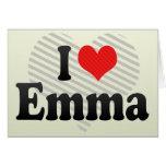 I Love Emma Greeting Cards