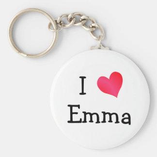 I Love Emma Keychain